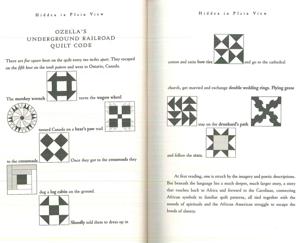 Quilt Patterns Used During The Underground Railroad : Lesson 2 - Art of the Underground Railroad